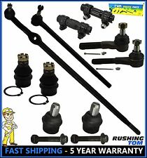 10 Pc Set Upper Lower Ball Joint Inner Outer Tie Rod End Ford F150 2WD RWD 87-96