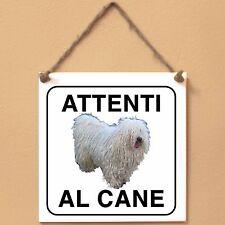 Puli 3 Attenti al cane Targa cane cartello