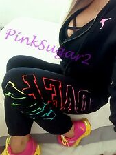 Victoria's Secret Pink Sweats Hoodie Sweatshirt Rainbow Joggers S