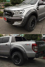 FOR Ford Ranger T6 Minor change MC 15 16 Black Workmate Fender Flare Wheel Arch7