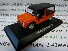 voiture 1/43 atlas NOREV voiture de mon père : CITROËN MEHARI orange