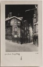 Echtes Original 1952 Hall in Tirol Nachtaufnahme v. Stockhammer mit Stempel