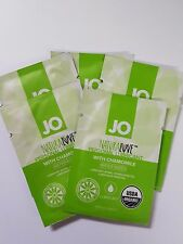 5 x SYSTEM JO LUBE NATURALOVE Camomile Water-Based Lubricant Organic 3ml Sachet