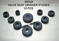 "VALVE SEAT GRINDING STONES FOR  SIOUX 12 PCS STEEL THREAD BUSH 11/16"" X 16 TPI"