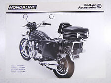 79 HONDA HONDALINE MOTORCYCLE ACCESSORIES NOS OEM DEALERS SALES SHEET BROCHURE