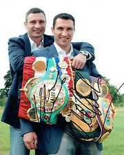 Wladimir & Vitali KLITSCHKO Double Signed Photo A Champion Boxer AFTAL COA