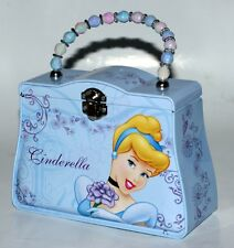 "CINDERELLA Walt Disney Princess 2-5/8"" x 5"" x 7"" TIN TOTE BOX PURSE HANDBAG New"