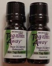 *2* TAG AWAY Skin Tag Remover 100% All Natural Thuja Occidentalis Homeopathic TV