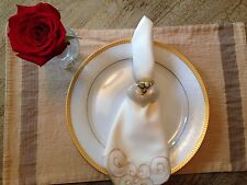 Hand made heart beaded flower napkin holder  set of 8 napkin rings Valentine Day