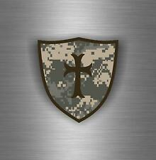 Sticker car biker maltese shield airsoft decal crusader cross templar knights D