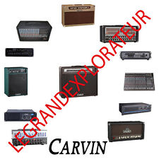 Ultimate Carvin Amplifier Repair Service Schematics  Manual  (450 on DVD)