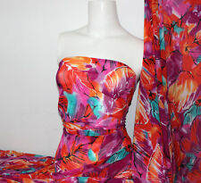 Floral Print 4 way stretch sheer Fabric