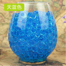 10 Bags Pearl Shaped Crystal Soil Water Beads Mud Grow Magic Balls [Blue]