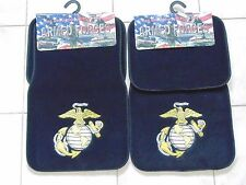 USMC US MARINE CORPS AUTO TRUCK VAN SUV CROSSOVER EG&A 4 PC CARPET FLOOR MAT SET