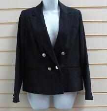 REDUCED LADIES BLACK MILITARY STYLE  BUTTON LINED CHOPPED JACKET SZ 10 BNWT