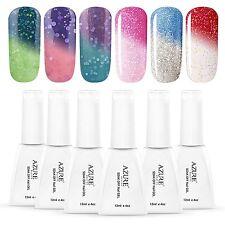Azure Beauty Gel Nail Polish Set Mood Color Change Gel Polish Set, 12ML 6 Colors