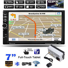 "7"" HD 2 Din Touchscreen Bluetooth Car MP3 MP5 Player USB/TF/FM GPS Navigation"