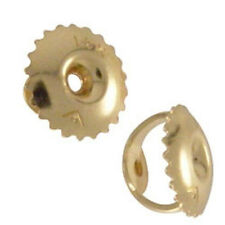 1 PAIR SOLID 14K YELLOW GOLD REPLACEMENT SCREW ON SCREW OFF EARNUT EARRING BACK