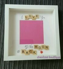 I love you to the moon and back scrabble art photo frame ❤