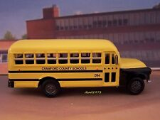 1956 56 CHEVY COUNTY SCHOOL BUS COLLECTIBLE MODEL - 1/64 SCALE DIORAMA