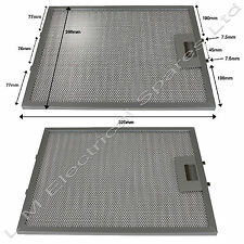 2 x 320 x 260mm Metal Oven Cooker Hood Extractor Fan Vent Filters For Zanussi