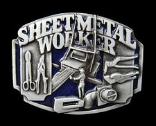 SHEET METAL SHOP WORKERS OPERATORS TOOLS MACHINES BELT BUCKLE BOUCLE CEINTURE