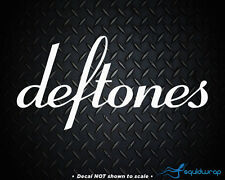 Deftones Rock Band Car Decal / Laptop Sticker - WHITE 8""