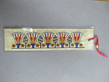 BOOKMARK EGYPTIAN PAPYRUS Ancient Egypt Floral Design Stylised Flowers
