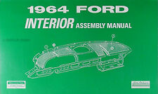 1964 Ford Galaxie Interior Assembly Manual XL 500 Custom Country Sedan Squire