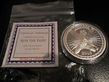 Silver Proof 1 oz .999 Alyx Fairy Silverbugs Reddit round C/A 10,000 Coin