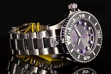 Invicta Grand Pro Diver Gen II Auto 3D Charcoal Dial Purple Accent SS Watch New!
