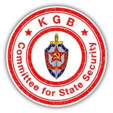"KGB Committee For State Security Grunge Stamp Car Bumper Sticker Decal 5"" x 5"""