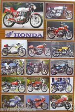 HONDA MOTORCYCLE POSTER FROM ASIA: 15 Classic Japanese Motor Bikes