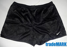 RARE NIKE SATIN Soccer shorts BLACK LARGE  athletic running
