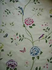 "SANDERSON CURTAIN FABRIC DESIGN ""Pavilion"" 2.5 METRES CHINTZ (250 cm)"