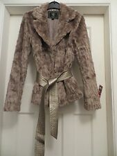 GORGEOUS LIPSY SIZE UK 10, EU 36 FAUX FUR BELTED  JACKET / COAT NWOT