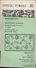 Epping Forest. Opening of the Bandroom 1984 + List of items.  (HL1.162)