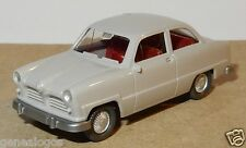 MICRO WIKING HO 1/87 FORD 12 M 1954 GRIS CLAIR intérieur rouge