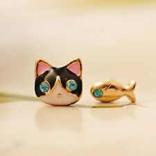 Betsey Johnson $4.99 Cat & Fish Earrings  & Free Gift Fast shipping USA