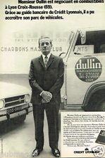 Publicité advertising 1972 Banque Credit Lyonnais Mr Dullin Lyon Croix Rousse