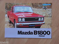 Mazda B 1800 Pickup Prospekt / Brochure / Depliant, NL, 11.1977