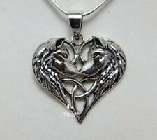 Sterling Silver Wolf Heart triquetra necklace by Lisa Parker Licensed Product