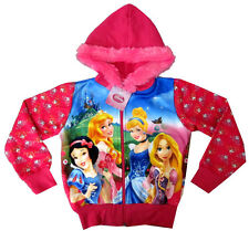 DISNEY PRINCESS Snow White Rapunzel Cinderella girls sweatshirt jacket XL 11-13y