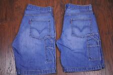 Two Pair Levi's Red Tab Carpenter Jean Shorts Men's 36 [t95]