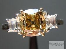 1.52ct Fancy Deep Brownish Yellow SI2 Old Mine Ring R5166 Diamonds by Lauren