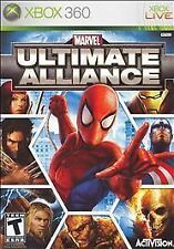 XBOX 360 Marvel Ultimate Alliance Video Game DISC-ONLY online co-op spiderman C
