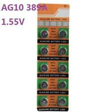 10X Batteries AG10 L1130 LR54 389A SR54 Coin Button Cell Battery Watch camera
