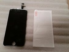 """Iphone 6 Black LCD Digitizer Screen Assembly 4.7"""" & Tempered Glass"""