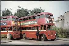 Transport Postcard - Trolleybuses Q1 1854 & F1 737 at Uxbridge Terminus A8415