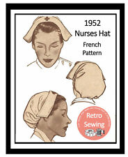 1950s Nurses Hat French Sewing Pattern